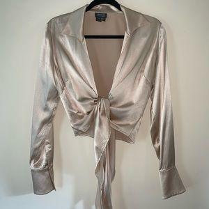Lafayette 148 New York - Silk Wrap Blouse